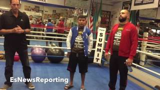 CHOCOLATITO OPENS UP ON 1ST TRAINING CAMP ALONGSIDE GENNADY GOLOVKIN - EsNews Boxing