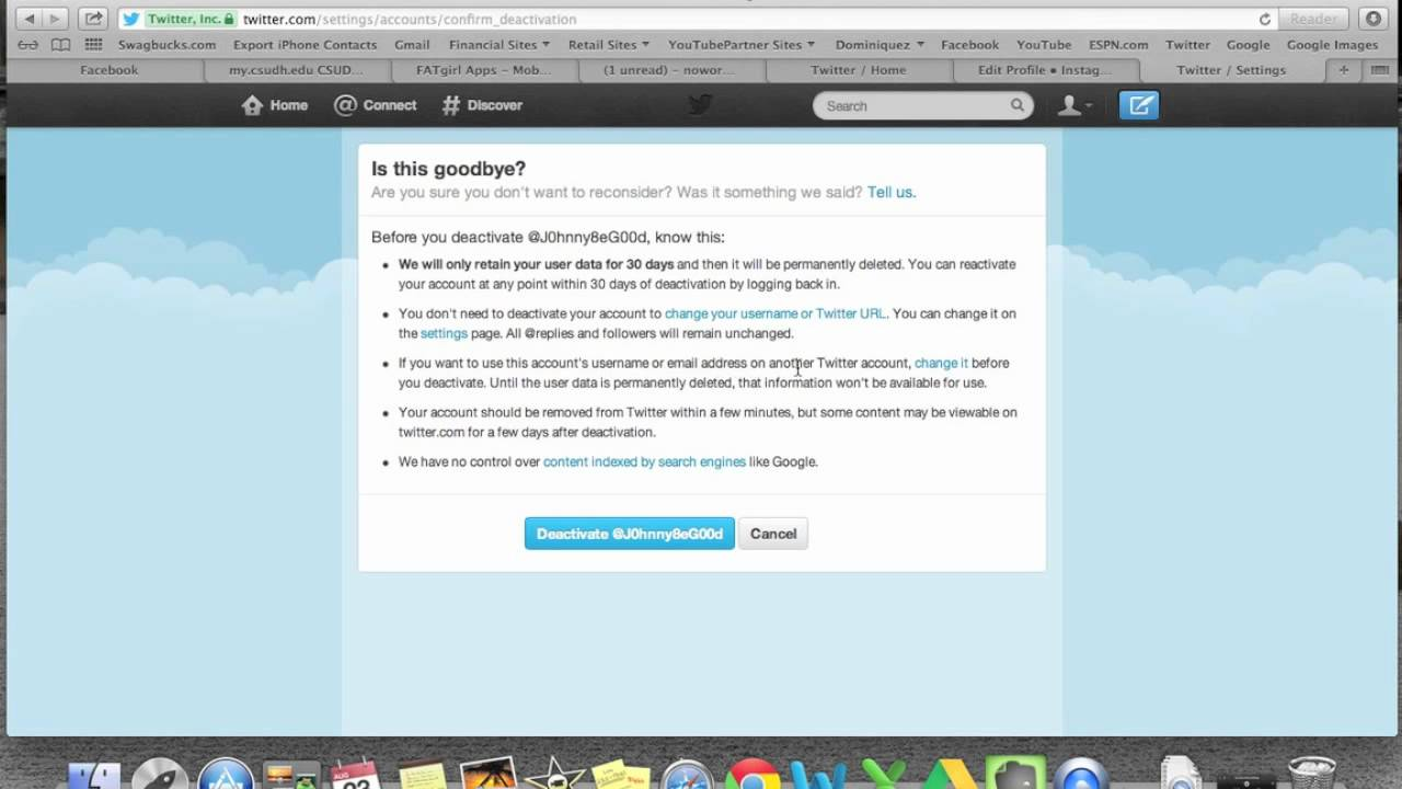 How To Delete Your Twitter Account  H2techvideos