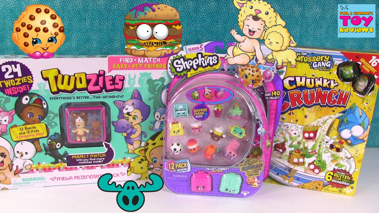 Shopkins Twozies Grossery Gang Color Change Blind Bag Toy