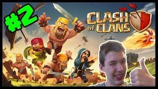 Clash of Clans #2 - Prvé útoky! | SK Let's play | facecam | HD