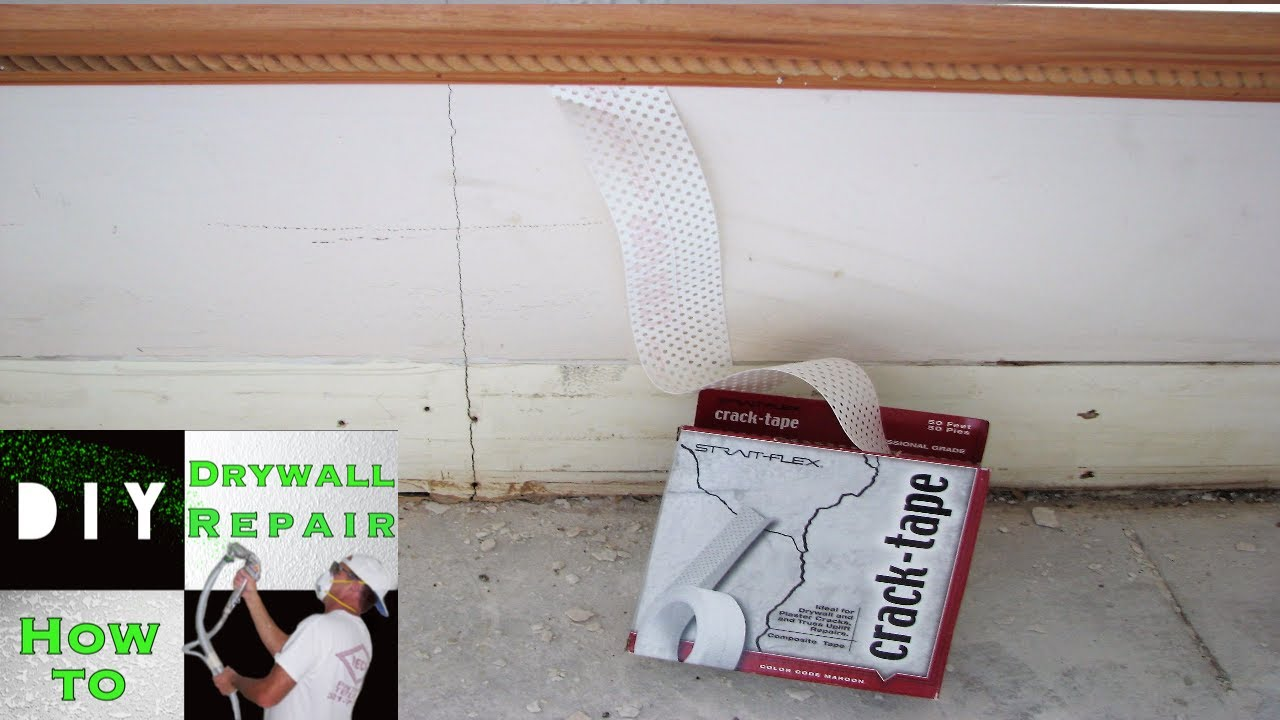 How To Repair A Drywall Crack Strait Flex Crack Tape