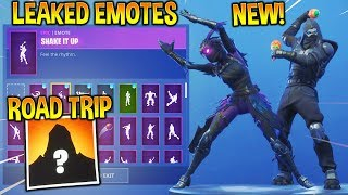 "'NOUVEAU' FORTNITE LEAKED ""ROAD TRIP"" SKIN -EMOTES..!! (Shake it up, Fancy Feet, Capoeira...)"