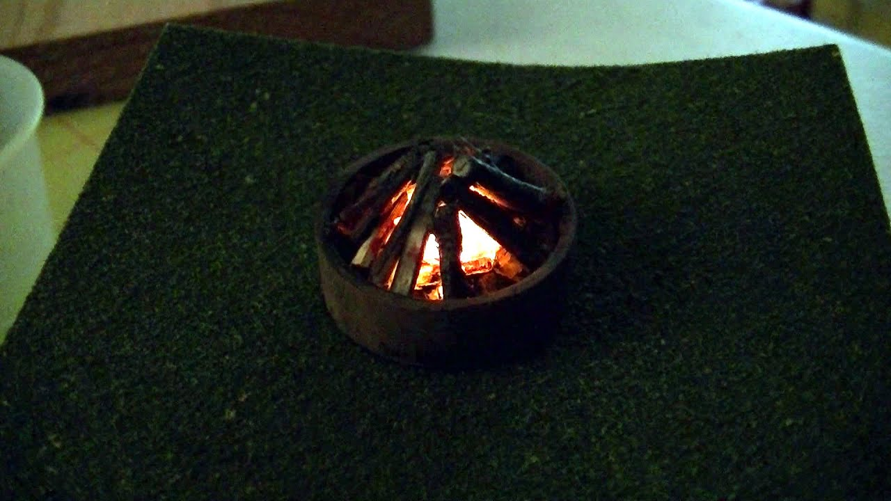 O Scale Campfire From a Flickering LED Tealight - YouTube