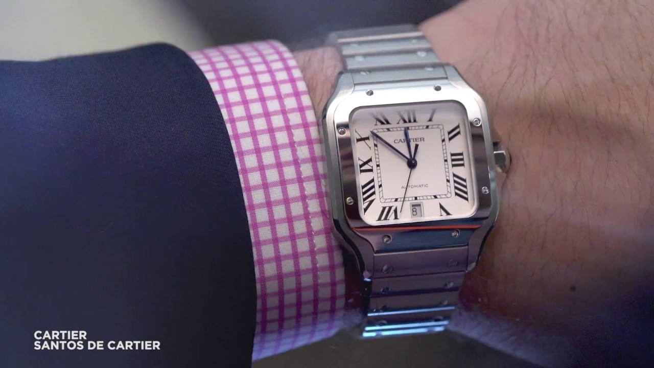 d549f977cb6a A closer look at the latest Cartier Santos de Cartier - YouTube