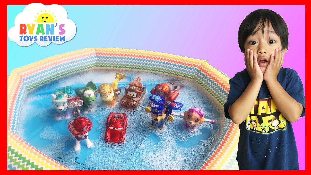 Paw Patrol Toys In Bubbles With Disney Cars Lightning