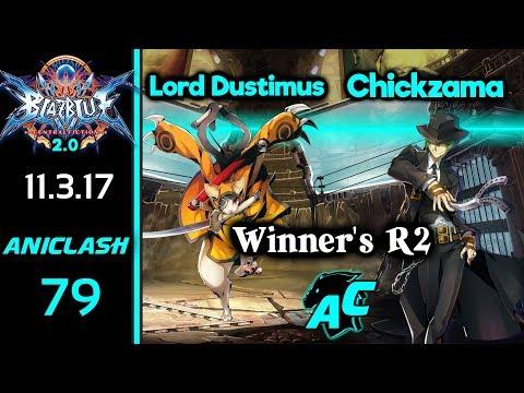 AniClash 79 - Lord Dustimus (Jubei) vs Chickzama (Hazama/Hibiki) Winner's R2 - BBCF 2