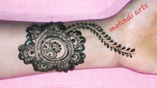 very easy mehndi design For hands Arabic mehndi design
