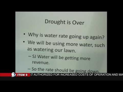Cupertino Resident Luke Lang spoke about Water Rate Increase