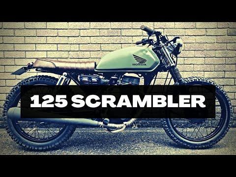 Honda CG125 Project Street Scrambler Cafe Racer Motorcycle Bike Rebuild
