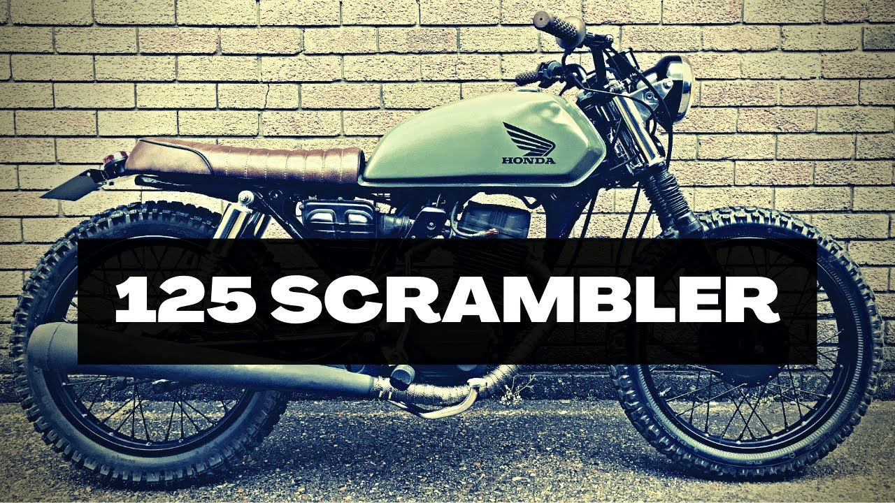 honda cg125 project street scrambler cafe racer motorcycle bike rebuild [ 1280 x 720 Pixel ]