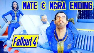 Fallout 4 - NATE NORA SURVIVE DESTROY THE INSTITUTE TOGETHER - Nora Mod Meets Dying Father