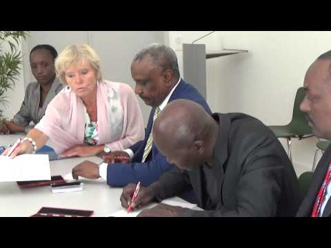 First African signatory to the Deed of Commitment protecting children in armed conflict