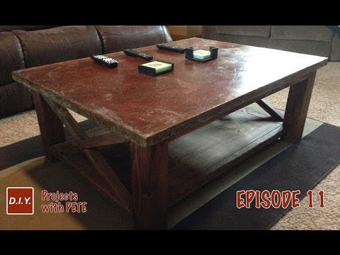 How To Make A Concrete Coffee Table And Acid Stain Concrete YouTube - Stained concrete table