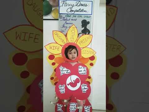 6e48004eb Save the girl child  fancy dress competition by Rimsha fatima 4yrs ...