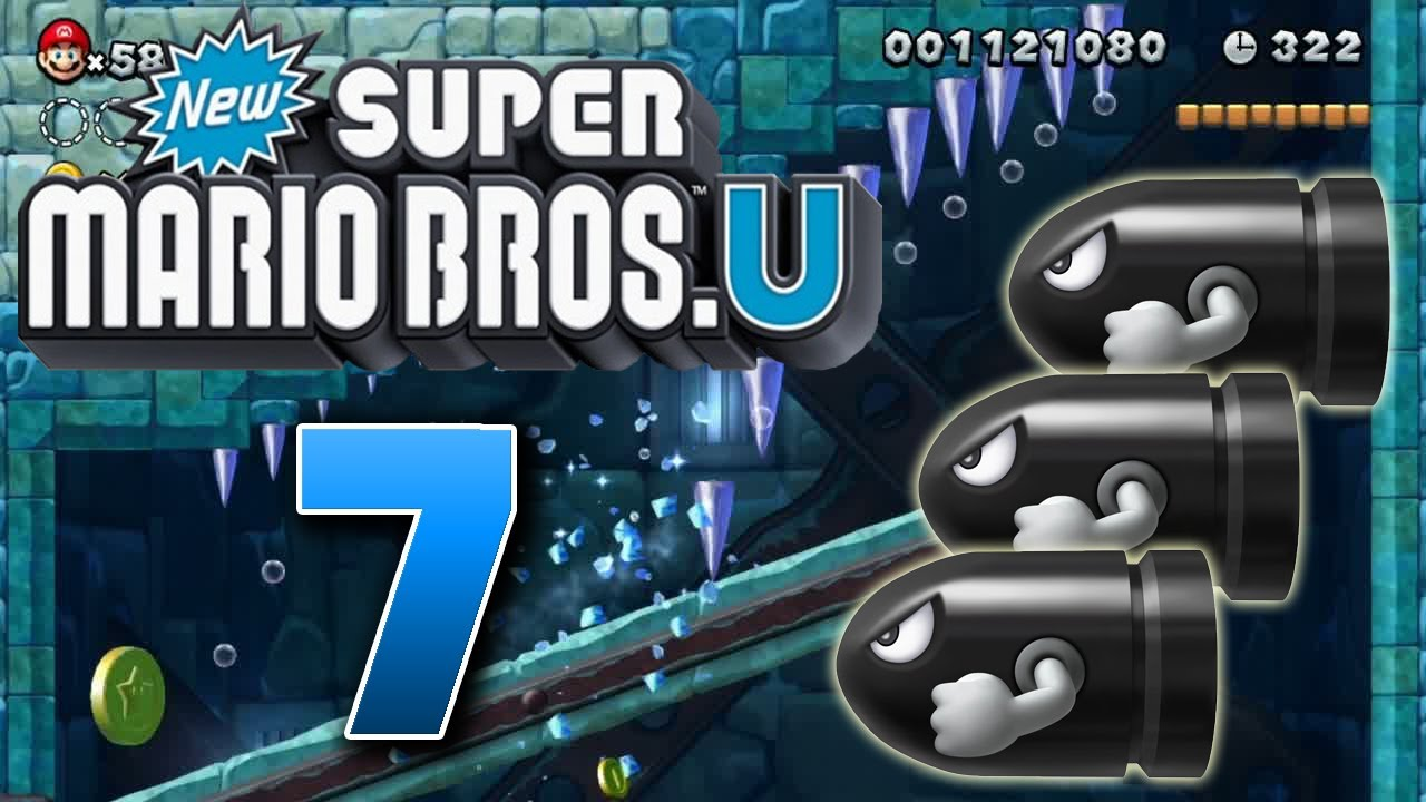 Lets Play New Super Mario Bros U Part 7 Fails Unter Polarlichtern