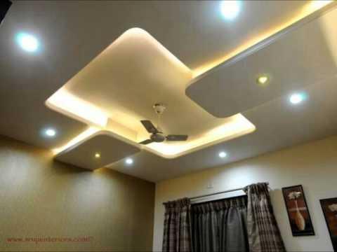 False ceiling hall design youtube for Best fall ceiling designs