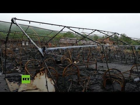 Rusia: Muere un niño en un incendio en un campamento de tiendas de campaña