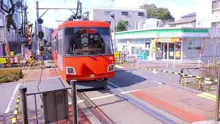 東急世田谷線  300系電車(デハ300形)308   三軒茶屋駅出発