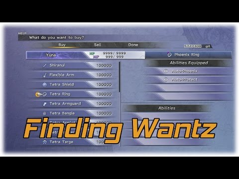 Final Fantasy X HD: Finding Wantz! (Gear with 4 Empty Slots)