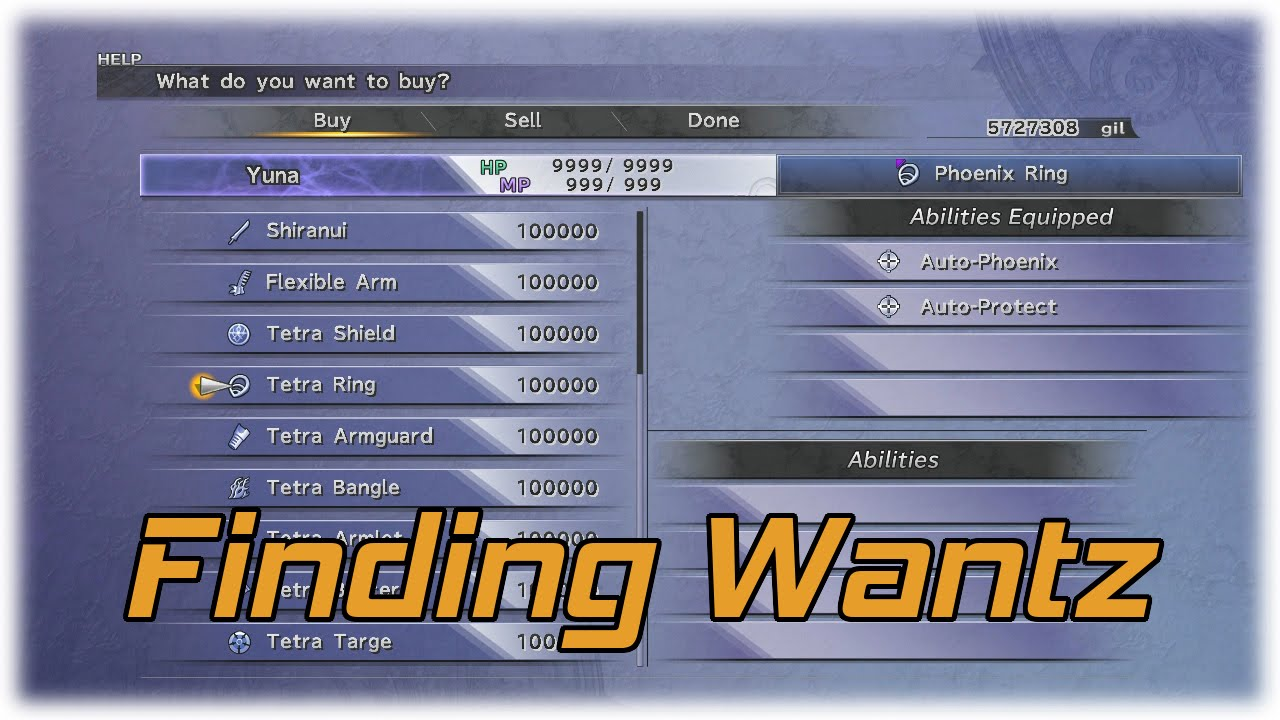 Ffx Ausrustung 4 Slots