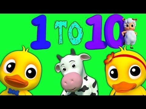 Anzahl Song   3D Educational Video   Karikatur für Kinder