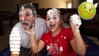 FIRST TO TOUCH THEIR FACE, LOSES! *Whip cream Challenge*