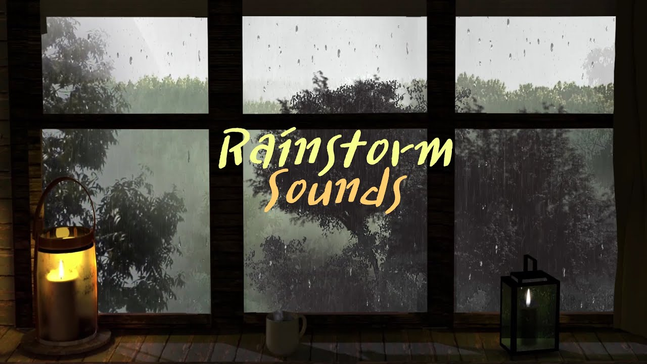 Rain On Window and Rainstorm Sounds - Rain in Forest - 8 Hours Relaxation , Sleep and study