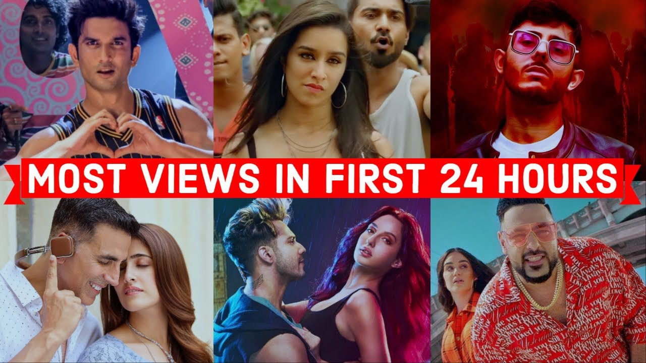 Top 30 Most Viewed Indian Bollywood Songs In First 24 Hours Youtube