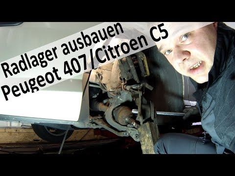 wheel bearing Peugeot 407 / Citroen C4 C5 change part1