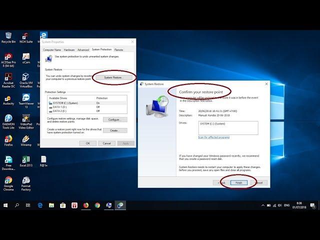 Cara Mengembalikan Kondisi Komputer yang Error - System Restore