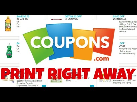 Coupons to Print August 30th 2020