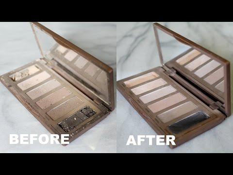 How To Fix Broken Eye Shadow / (or Pressed Powder Makeup) // Justine Marie!