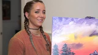 Bob Ross Painting Tutorial, Following Along | JennaMarbles | #6 on Trending (GM MW)
