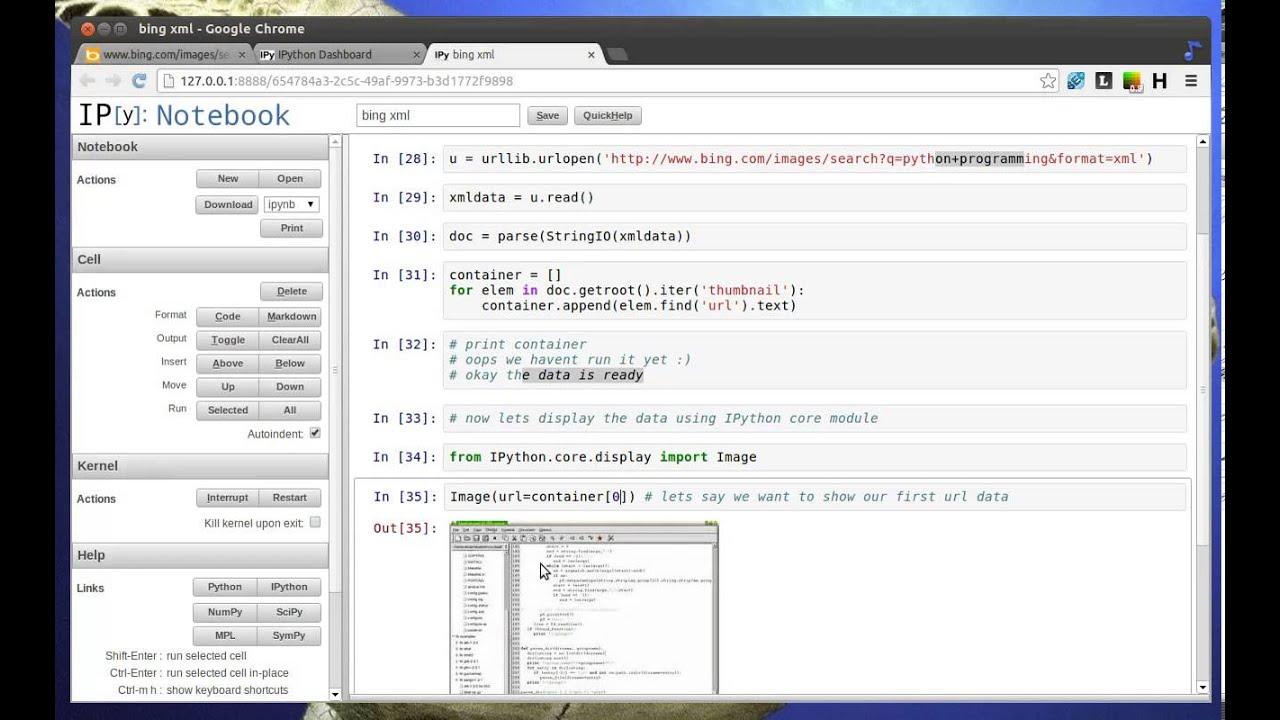 Python Tutorial - Parsing Bing XML Data and Display Image ...