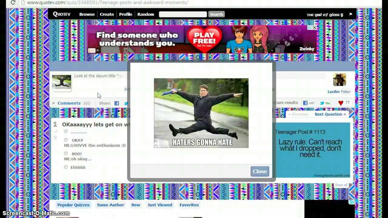 Quotev: Taking random quizzes! - YouTube