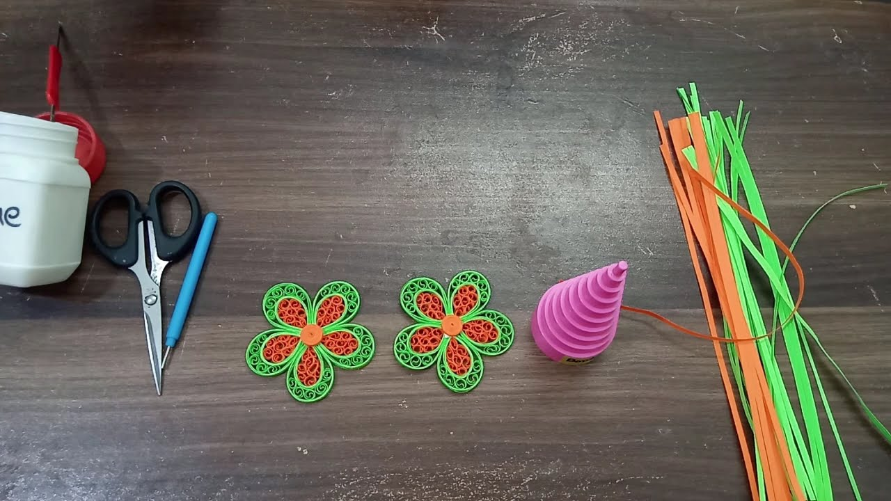 How to make Beehive Quilled Flower DIY Step by Step Tutorial Second Design