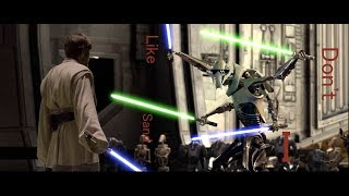 Obi-Wan vs. General Grievous But Every Time Their Lightsabers Clash, it's a Star Wars Meme