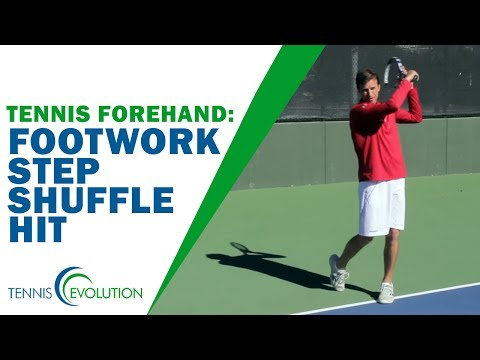 TENNIS FOREHAND | Footwork Step Shuffle Hit