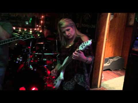 "Rena Sands Petrucci performs ""Heading Out to the Highway"" with the band Damage Control"