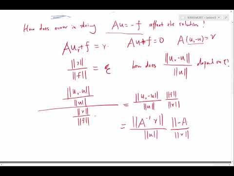Matrix condition number and numerical stability