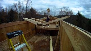 Installing Upper Roof Trusses - 58 - My Diy Garage Build Hd Time Lapse