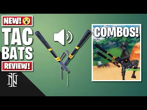 TAC BATS Pickaxe Review In Fortnite | COMBOS & Sound Test