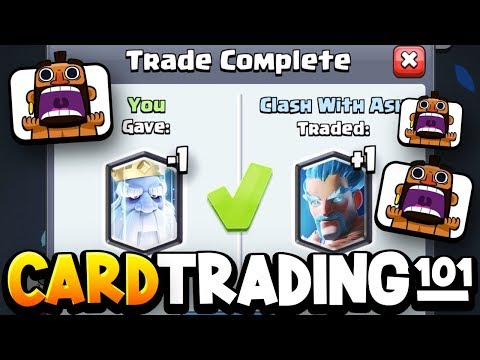 How To TRADE CARDS In Clash Royale!