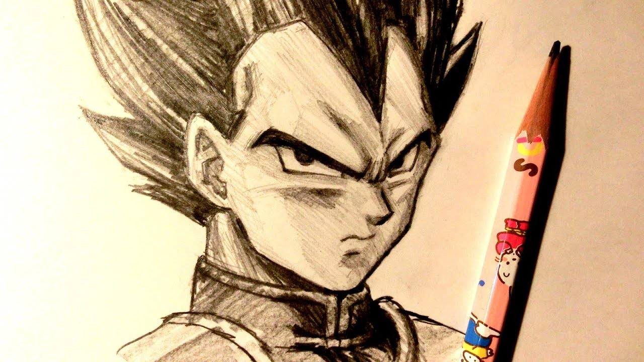 Asmr pencil drawing 117 vegeta request