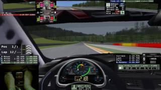 rFactor1 - BMW M3 GTR E92 usando Técnica Punta Taco / SPA Francorchamps
