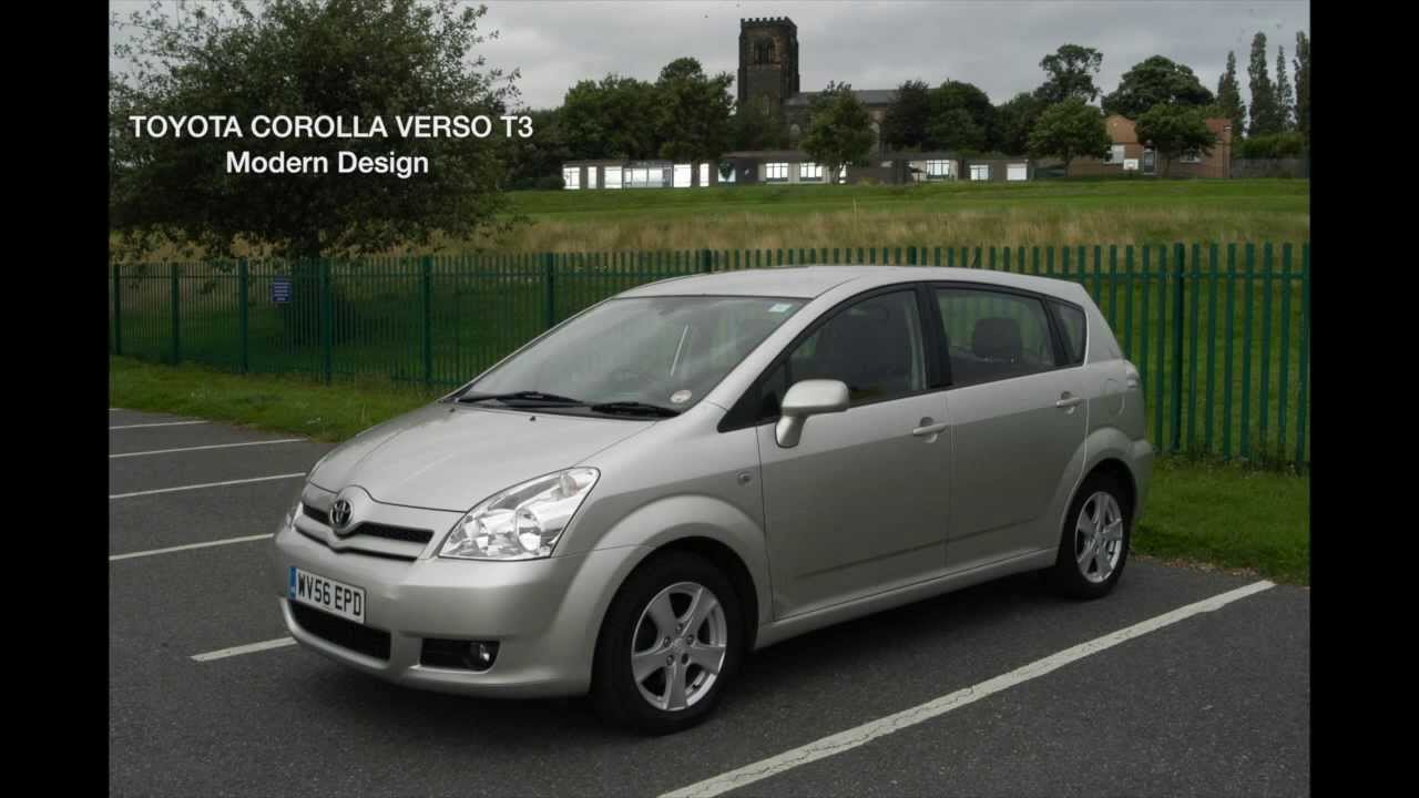2006 56 toyota corolla verso t3 7seats tax mot youtube. Black Bedroom Furniture Sets. Home Design Ideas