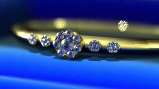Футаж Свадебное  кольцо с бриллиантами