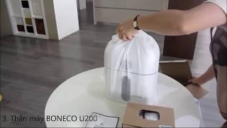 Bóc hộp máy tạo độ ẩm Boneco U200 tại Homeair.vn