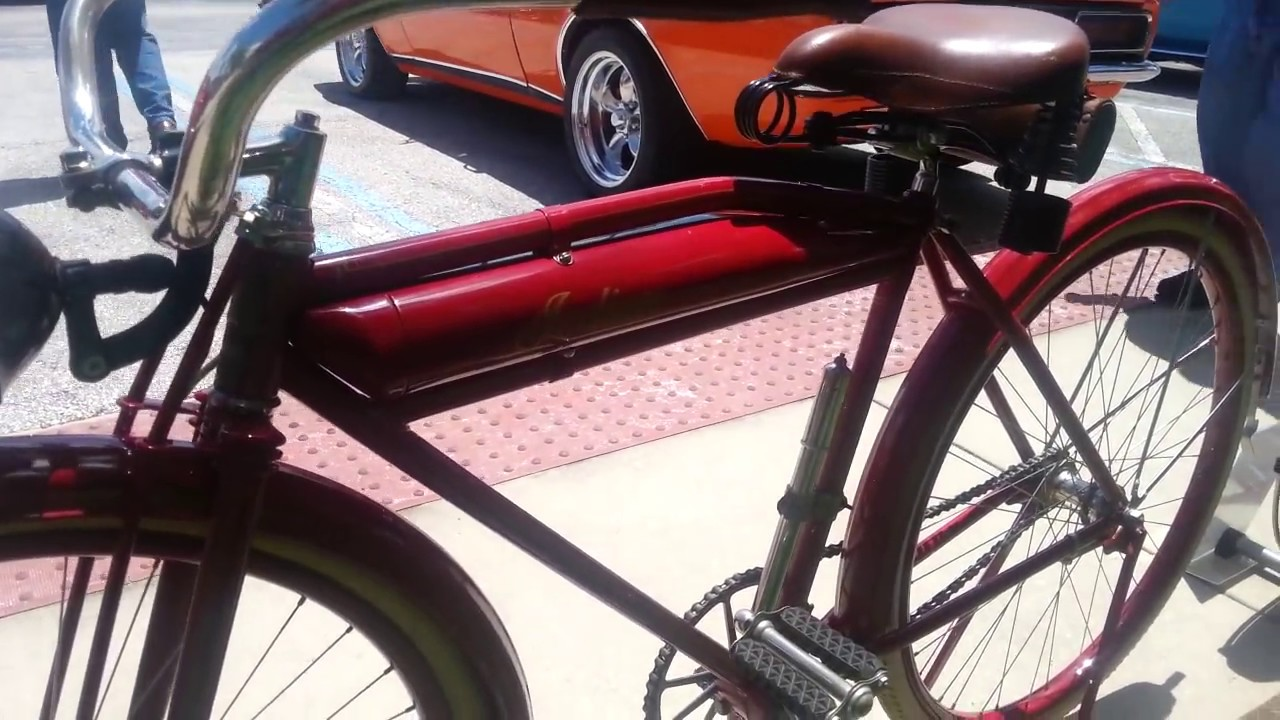 Antique 1919 Indian Bicycle Hooters Hot Rods Car Show
