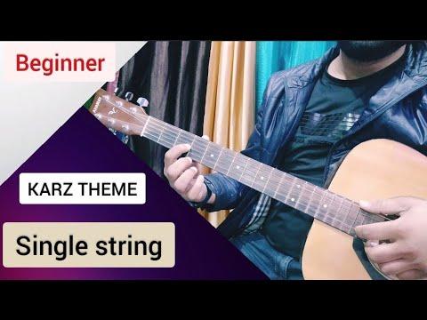 Online KARZ THEME Guitar tabs/Lead Lesson-single string-Ek Hasina Thi-beginners by keshav raj